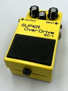 BOSS SD-1 Super Overdrive '94 Vintage Guitar Effect Pedal with JRC4558DD Roland