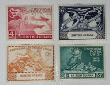 Travelstamps: 1949 British Guiana 246-249, MH OG Plane Ship Hemisphere Globe.
