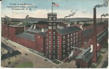 Awesome 1913 Postcard Frank Jones Brewery - Color Factory Scene - Portsmouth, Nh