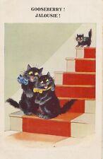 WAIN STYLE BLACK CAT HUMOUR. GOOSEBERRY    INTER ART COMIQUE SERIES