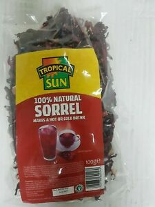 Dried Sorrel, Hibiscus 100g x 4 packets Trropical Sun