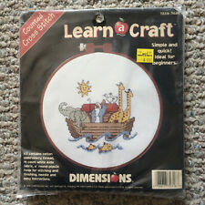 SIMPLE Vtg SEALED 1996 Dimensions NOAH's Ark 72316 Counted CROSS STITCH Kit
