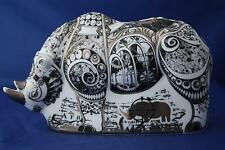 ROYAL CROWN DERBY STEAMPUNK PLATINUM RHINO PAPERWEIGHT NEW - UNBOXED 2ND QUALITY