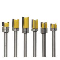 6mm Shank Straight Flush Trim Router Bit 3 Flute Top Bearing Woodwork Cutter New