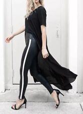 $110 NWT Spanx Side Stripe Faux Leather Leggings Size L