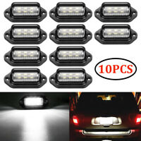 10X 6 LED License Number Plate Tag Light Boat Truck Trailer Interior Step Lamp