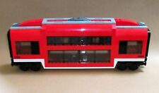 LEGO Train Custom City Passenger Double Deck Sleeper Car Club Carriage For 7938