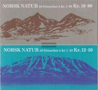 Norwegen 771MH-772MH (kompl.Ausg.) 2 Markenheftchen postfrisch 1978 Landschaften