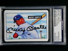 MICKEY MANTLE PSA/DNA CERTIFIED SIGNED 1951 BOWMAN ROOKIE PORCELAIN CARD AUTO