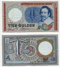 10 Gulden Niederlande 23.3.1953, Erhaltung III, Pick 85
