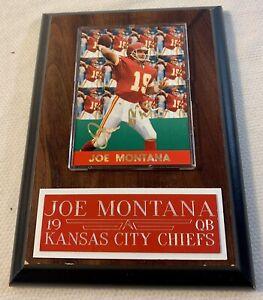 JOE MONTANA KANSAS CITY CHIEFS QUARTERBACK #19 FOOTBALL PLAQUE WITH CARD