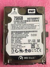 """Western Digital Black WD7500BPKT-22PK4T0 750GB 7.2K 2.5"""" SATA 7200 rpm HardDrive"""
