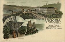 Hotel Victoria Bingen A Rhein Germany Multi-View c1910 Postcard jrf