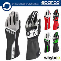New! 002553 Sparco TRACK KG-3 KG3 Karting Gloves Kart in Sizes 4-13 & 4 Colours!