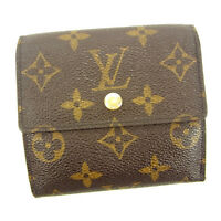 Louis Vuitton Wallet Purse Monogram Brown Woman Authentic Used Y5260