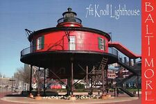 The Seven Foot Knoll Light, Lighthouse in Baltimore Maryland, 7 Ft MD - Postcard