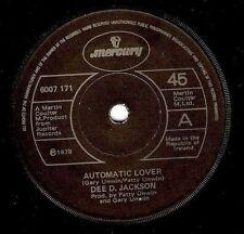 "DEE D. JACKSON Automatic Lover 7"" Single Vinyl Record 45rpm Irish Mercury 1978"