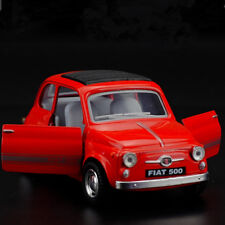 Fiat 500 Model Cars Toys 1:24 Open two doors Gift Alloy Diecast&Collection Red