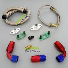 Single Turbo Oil Feed Line Kit Flange Kit for Toyota Supra 1JZGTE 2JZGTE 1JZ/2JZ