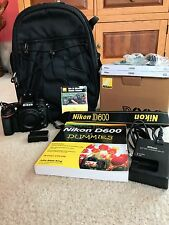 Nikon D D600 24.3 MP Digital SLR Camera - Black (Body Only) with Accessories