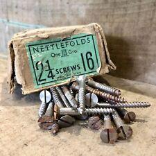 """25 Nettlefolds 2 1/4"""" X 16 Acero Tornillos de Cabeza Avellanada de Madera de Cabeza Ranurada nos GKN"""