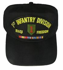 US Army 1st ID First Infantry Division Iraqi Freedom OIF Hat Big Red One Veteran