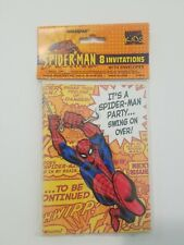 Spider Man Invitations With Envelopes 2 Packages Of 8