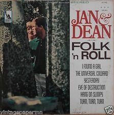 Jan & Dean Folk 'N Roll 1965 Vinyl LP Liberty Records LST-7431