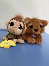 Rescue Pets My epets.com Brown Puppy Dog And monkey Plush Toy Animal Plus Lot