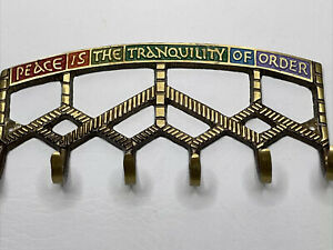 Peace Is The Tranquility Of Order Brass Key Rack Holder Terra Sancta Guild 1969