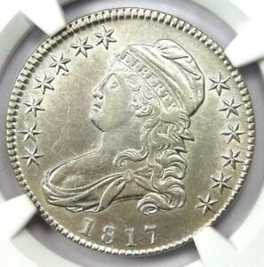 1817 Capped Bust Half Dollar 50C - Certified NGC AU50 - Rare Date Coin!