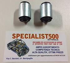 2 SILENT BLOK BRACCI OSCILLANTI POSTERIORI FIAT 500 F  L  R GIARDINETTA 126 TT