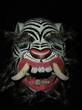 238 TIGER WHITE WOODEN MASK  tigre wild animal handcraft wall decor artesania