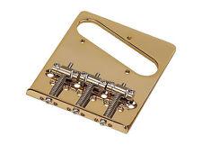 Gotoh Dual Load In-Tune Telecaster Tele Style Guitar Bridge • Gold BS-TC2