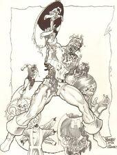 Zombie Captain America & HYDRA Commission After Jim Steranko 2007 by Tom Burgos Comic Art