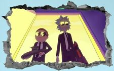 Rick And Morty,Sticker,Wall Art,Decal,3D,Bedroom,Mural