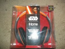 Star Wars Kylo Ren Darkside Over the Ear Headphones with Microphone IHome NEW