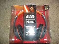 Star Wars Kylo Ren Darkside Over the Ear Headphones with Microphone IHome NEW