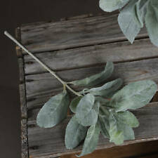 Artificial Individual Lambs Ear Spray, multiple leaves 35cm by Recipe Flowers