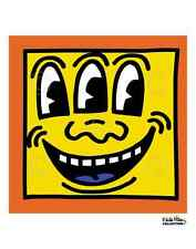 KH16 by Keith Haring Art Print Poster Face Three Eyes Spongebob Like 11x14