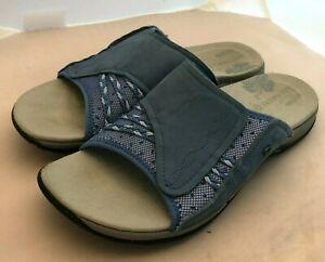 Merrell Lilyfern Denim Blue Slide sz 9 Women's Comfort Sandal Air Cushion