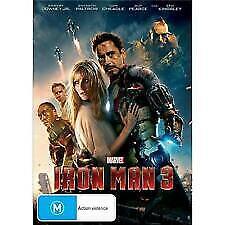 IRON MAN 3 DVD - NEW & SEALED MARVEL, ROBERT DOWNEY JR, TONY STARK FREE POST