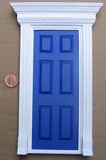SCALA 1:12 Blu DIPINTO IN LEGNO FATA porta d'ingresso Casa delle Bambole Accessorio 696