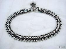 vintage antique tribal old silver anklet feet bracelet ankle chain aathada