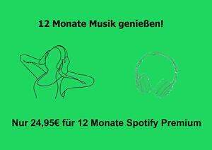 12 Monate Spotify Premium