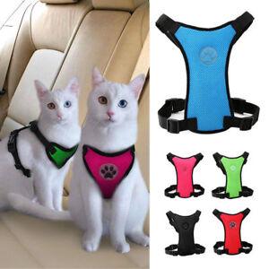 Soft Air Mesh Puppy Cat Pet Dog Car Harness Travel Seat Belt Clip Safety Vest XS