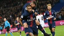 Nike Paris Saint Germain PSG France Soccer 2018 Jersey L LARGE Neymar Mbappe EUC