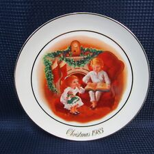 Avon Christmas Plate 1983 Night Before Christmas 3rd Edition Gold Trim (1E22)