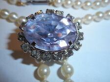 HOBE Majorca Pearl Lariat Necklace Detatchable Lavender Color Change  Enhancer