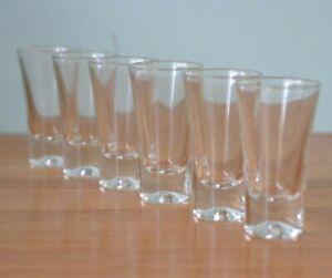 Vintage 7 x shot glasses alcohol glass barware  1960's Pit1